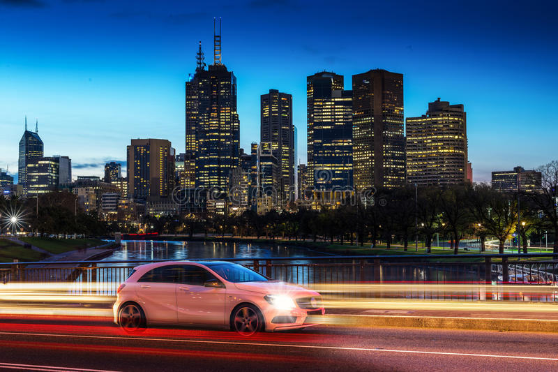 City Driving royalty free stock images