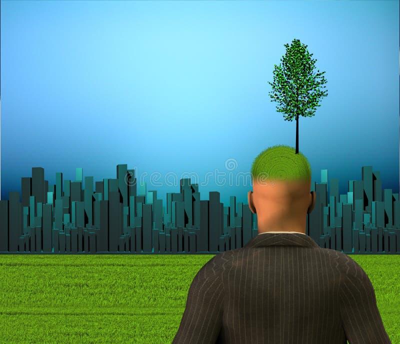 City Eco Mind Stock Image
