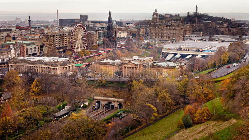 The City of Edinburgh royalty free stock photos