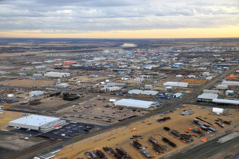 Download City Edmonton From Airplane Stock Photo - Image: 7511188