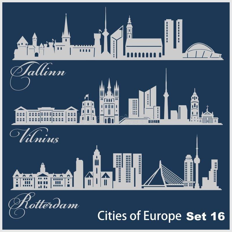 Riga, Sarajevo, Lyon. Detailed