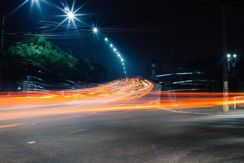 City, Evening, Expressway stock photography