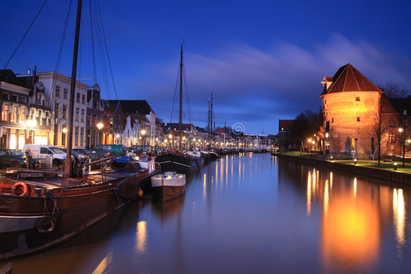 City in the evening royalty free stock photo