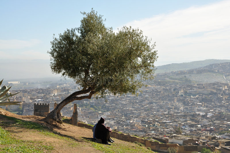 Download The city of Fes, Morocco stock photo. Image of arabic - 7667018