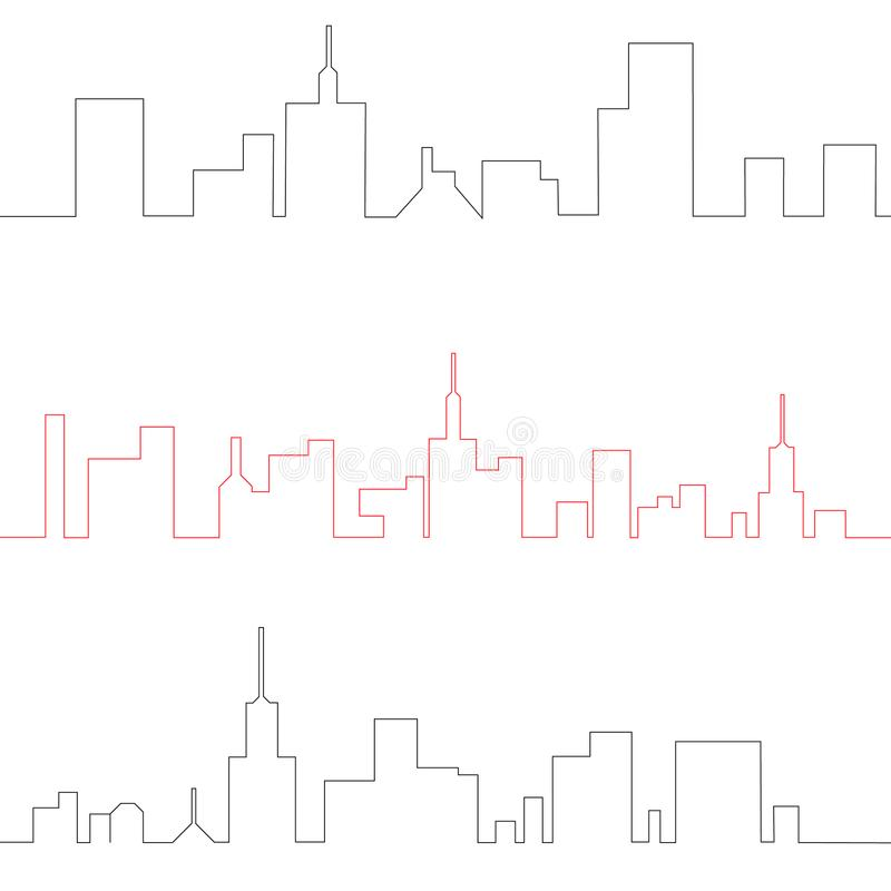 The city in a flat style vector illustration