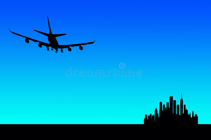 City flight royalty free illustration