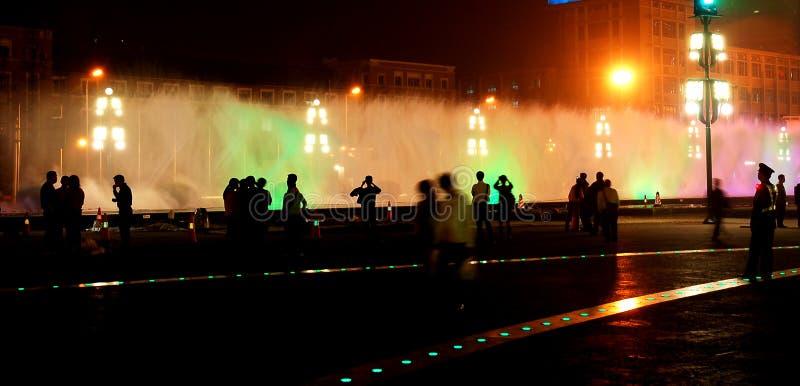 City fountain stock photos