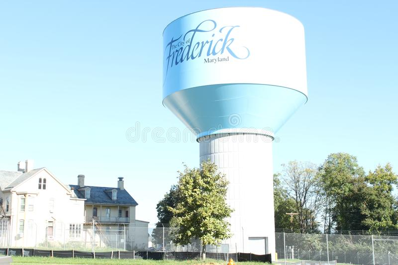 The City of Frederick, Maryland. This phots was taken in the beautiful city of Frederick in Maryland, United States It is a water tower in the eastern part of royalty free stock photos