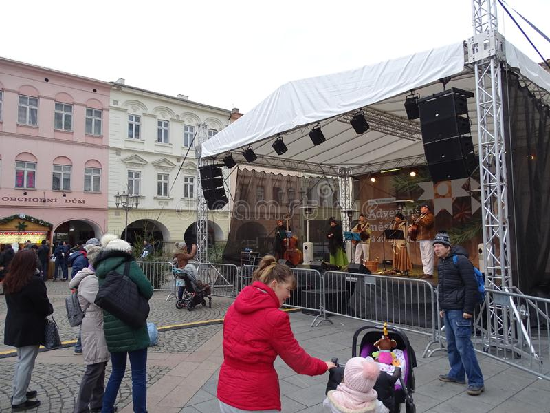 Advent in town 2018. The City of Frydek-Místek prepared through KulturyFM fun in Advent, which offers plenty of activities for children and adults. Will be stock photo