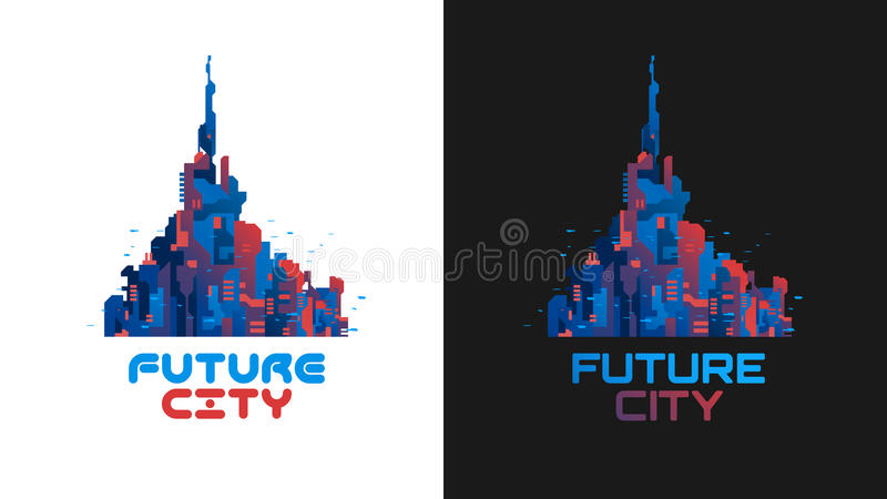 The city of the future vector illustration