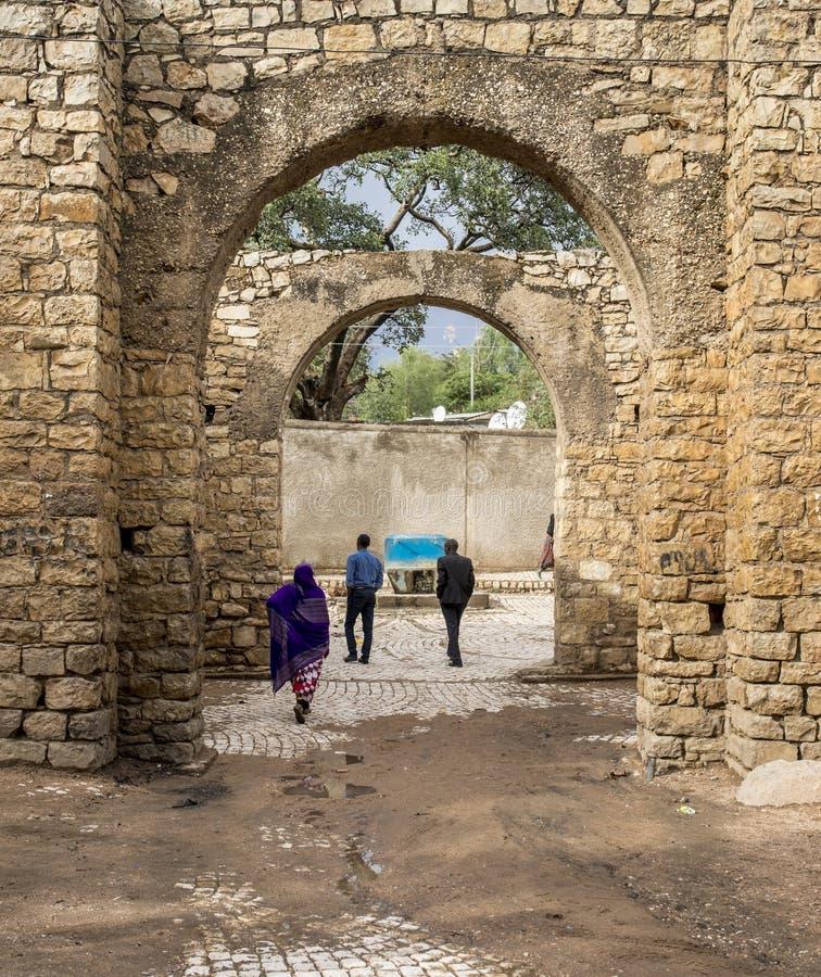 City gate of Harar, Ethiopia stock photography
