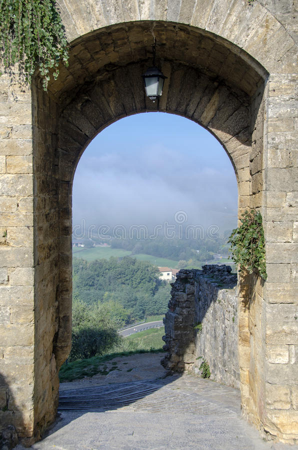 Download City gate of Monteriggioni stock image. Image of medieval - 29397863