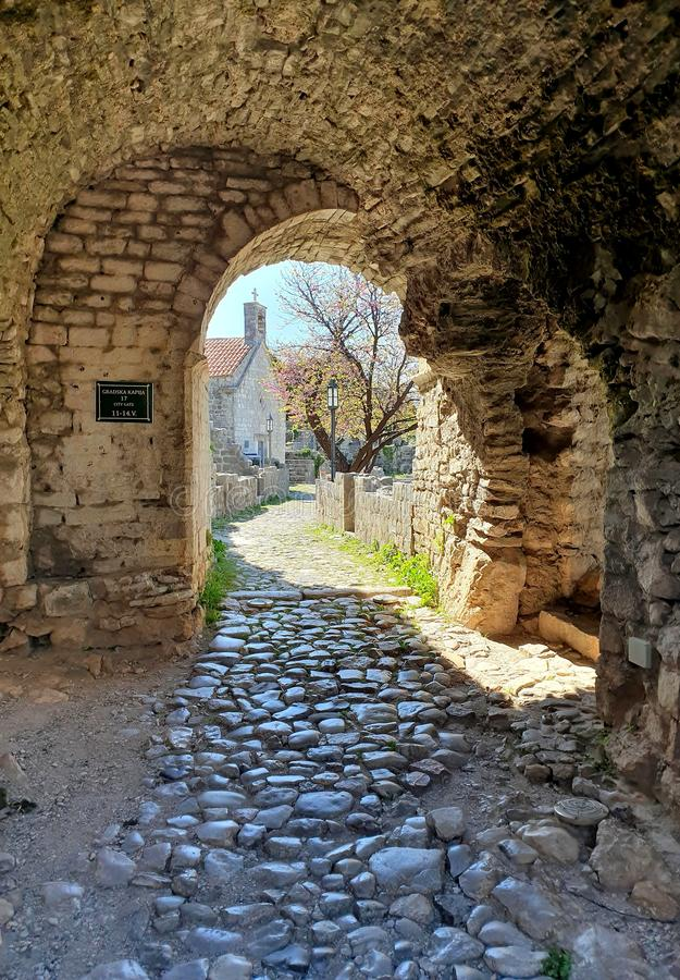 City gate Old town Bar  - Montenegro royalty free stock photography