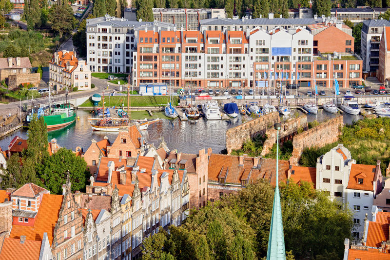 Download City of Gdansk in Poland stock image. Image of district - 24006025