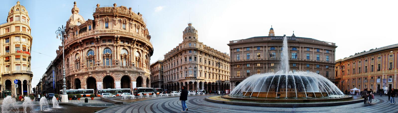 The city of Genoa, panorama. The city of Genoa in Italy, panorama royalty free stock photos