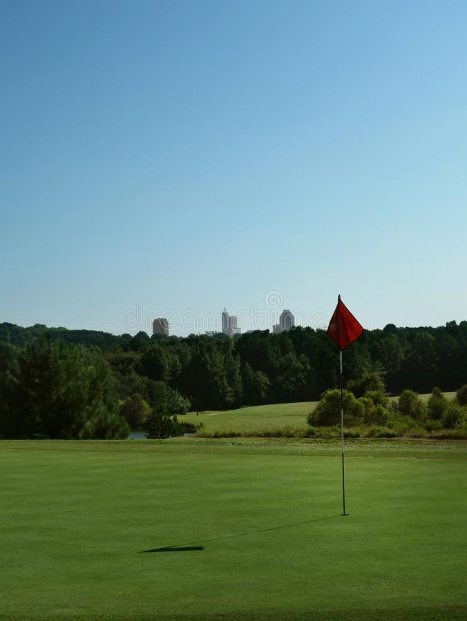 City golf course stock image