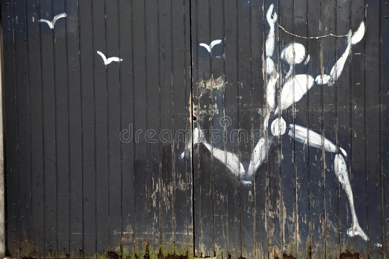 City graffiti. In Paris. France royalty free stock photos