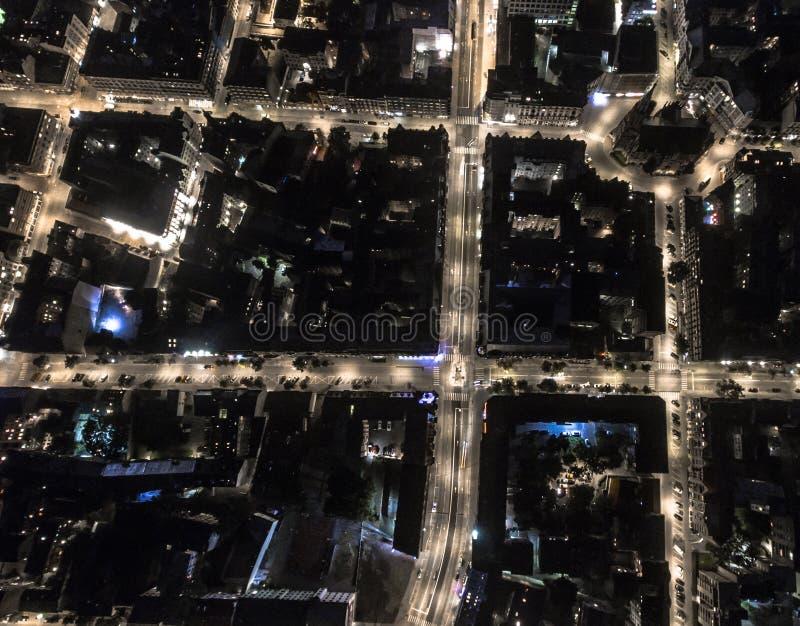 City grid urban stock photography