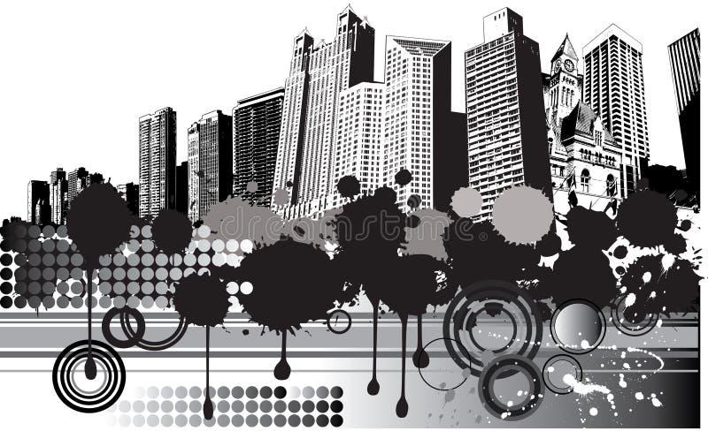 City Grunge Background royalty free illustration