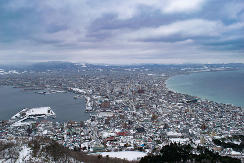 The city of Hakodate royalty free stock photography