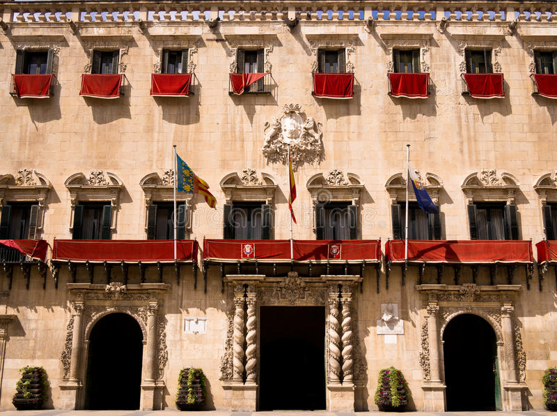 City Hall in Alicante, Spain stock photos