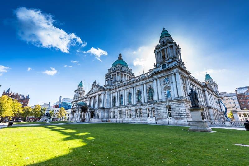 City hall of Belfast stock photography