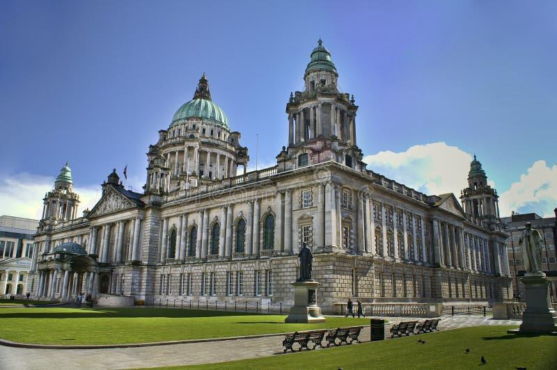 City Hall, Belfast Northern Ireland. Beautiful Picture of City Hall in Belfast Northern Ireland, with bright blue sky royalty free stock photo
