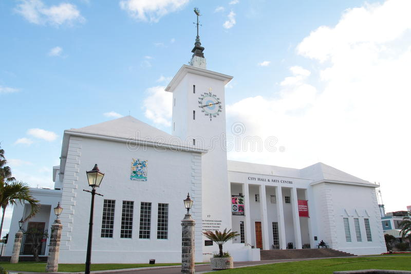 City Hall in Bermuda stock image