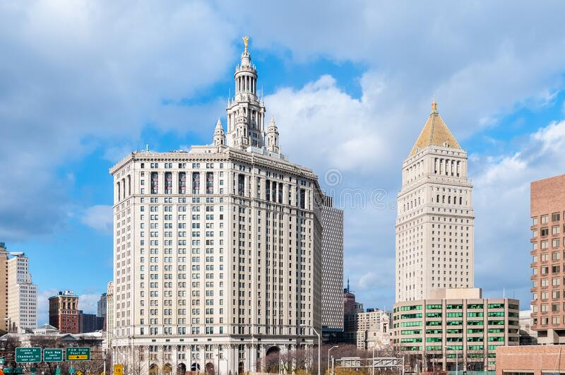 City Hall building in New York, United States. City Hall building in New York City, United States of America stock photography