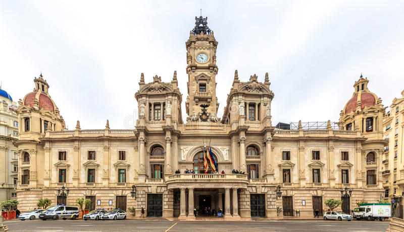 City Hall Building in Valencia, Spain. stock photography