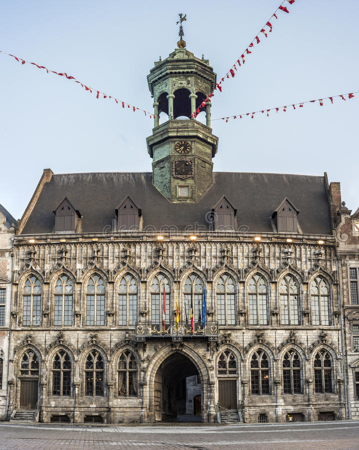 City Hall On The Central Square In Mons Belgium Stock Photo