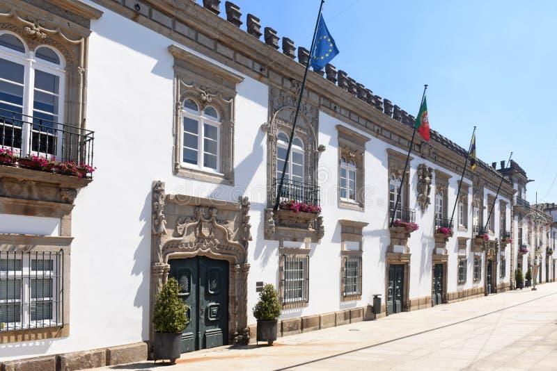 City hall of the city of Viana do Castelo in Portugal stock photo
