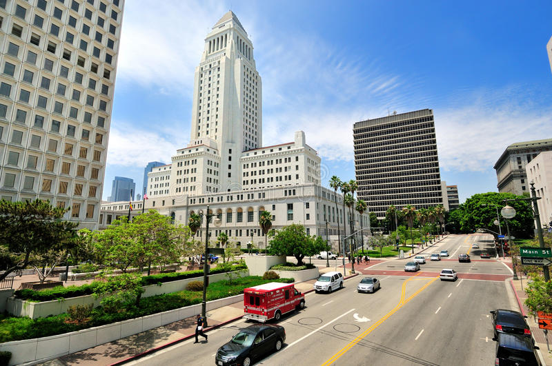 City Hall, Downtown Los Angeles stock photos
