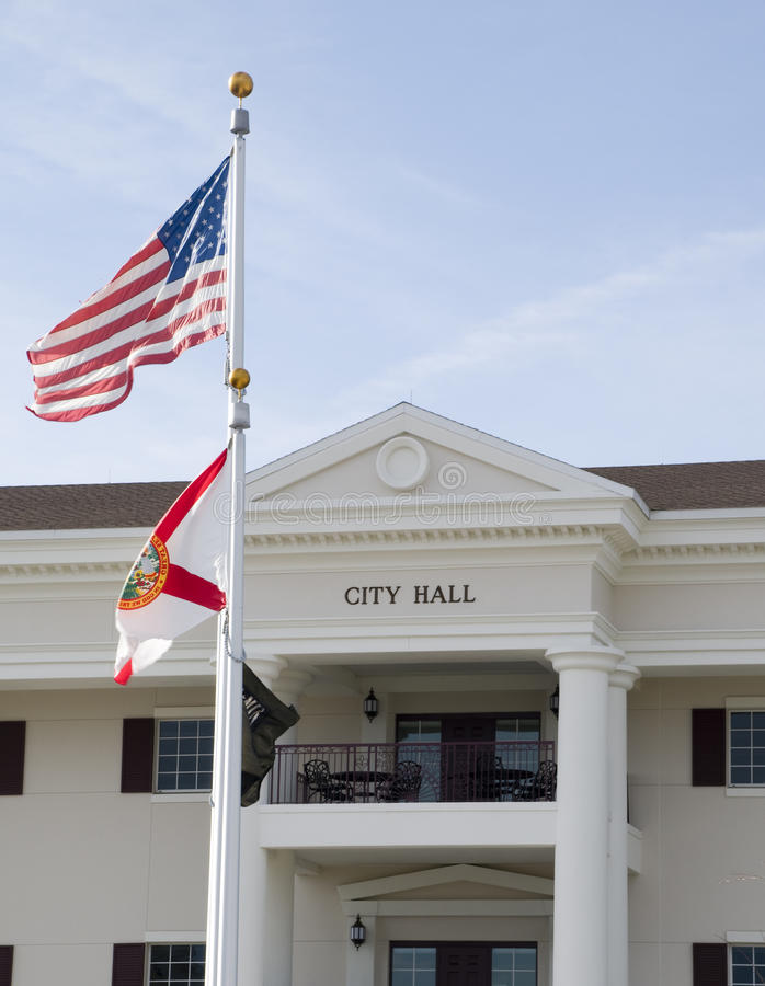 City Hall in Florida royalty free stock images