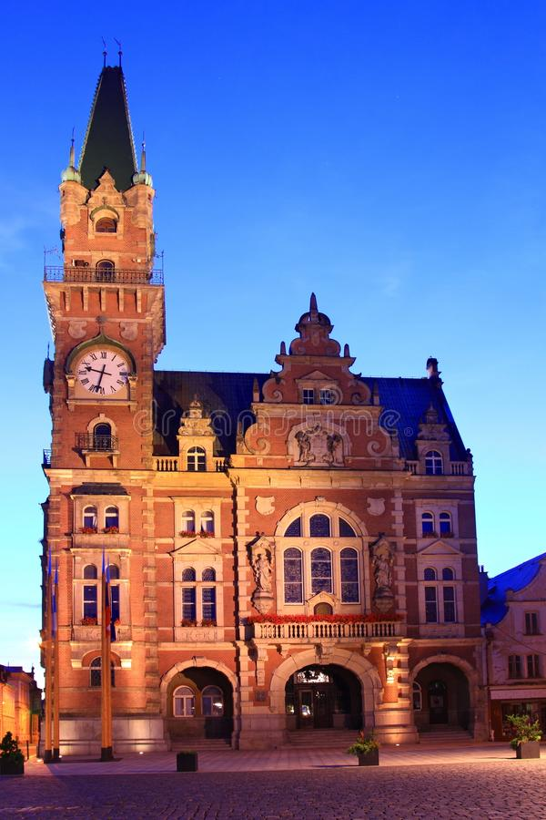 City Hall in Frydlant. Frydlant Town Hall in Czech Republic stock photo