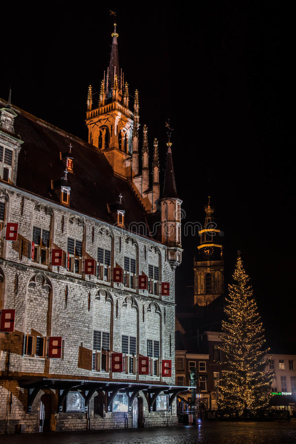 Download City Hall in Gouda stock image. Image of decoration, christmas - 28269321
