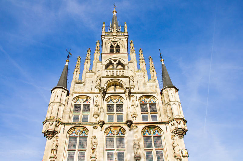 City hall in Gouda, The Netherlands royalty free stock image