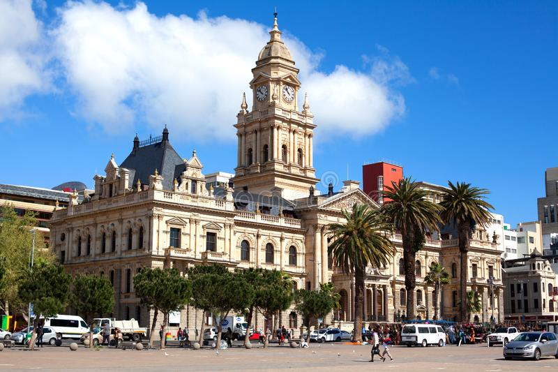 City Hall on the Grand Parade square, Cape Town, South Africa royalty free stock photography