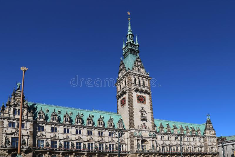 City Hall of Hamburg, Germany stock images