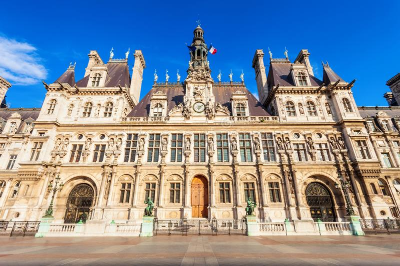 City Hall Hotel de Ville, Paris royalty free stock photos