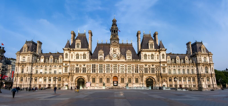 City Hall Hotel de Ville, Paris, France royalty free stock images