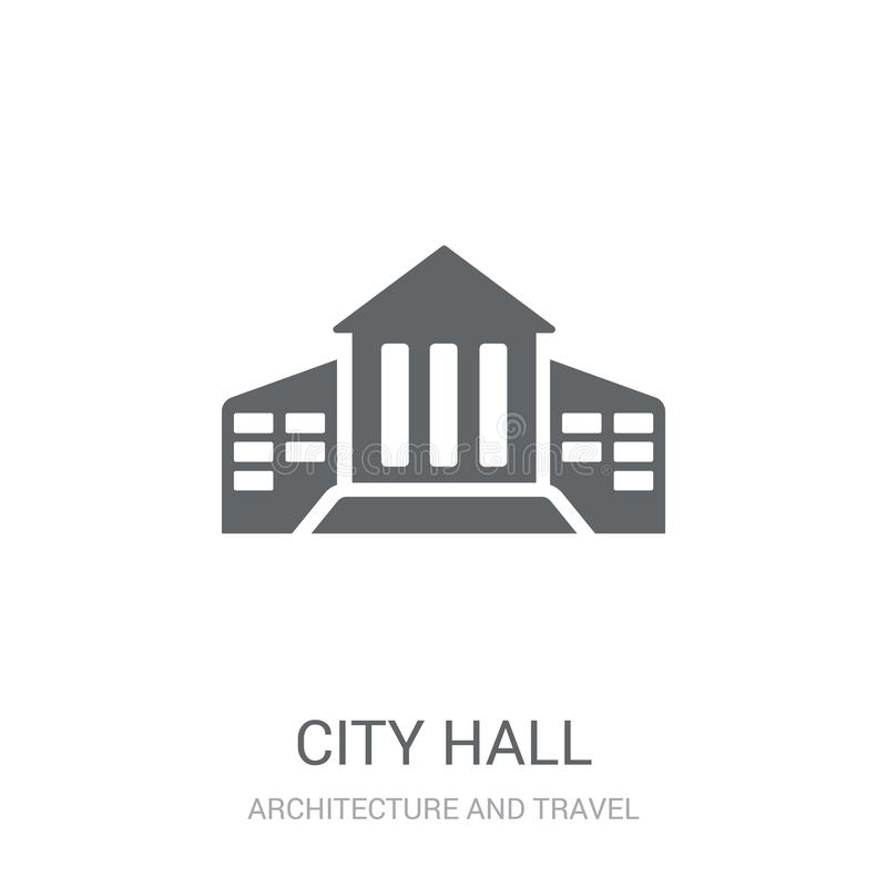 City hall icon. Trendy City hall logo concept on white background from Architecture and Travel collection vector illustration