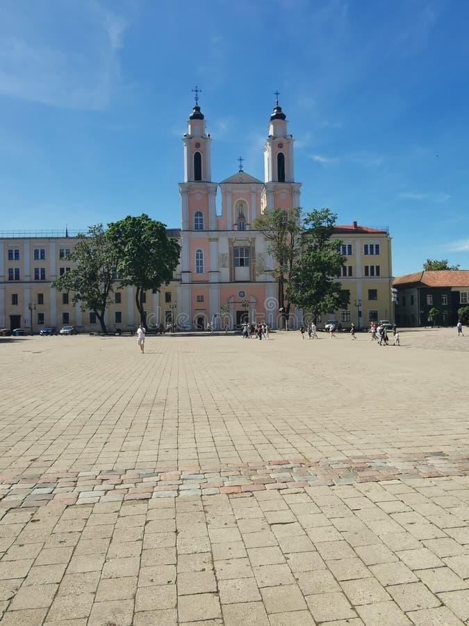 City Hall Kaunas Lithuania. Oldtown, summer stock images