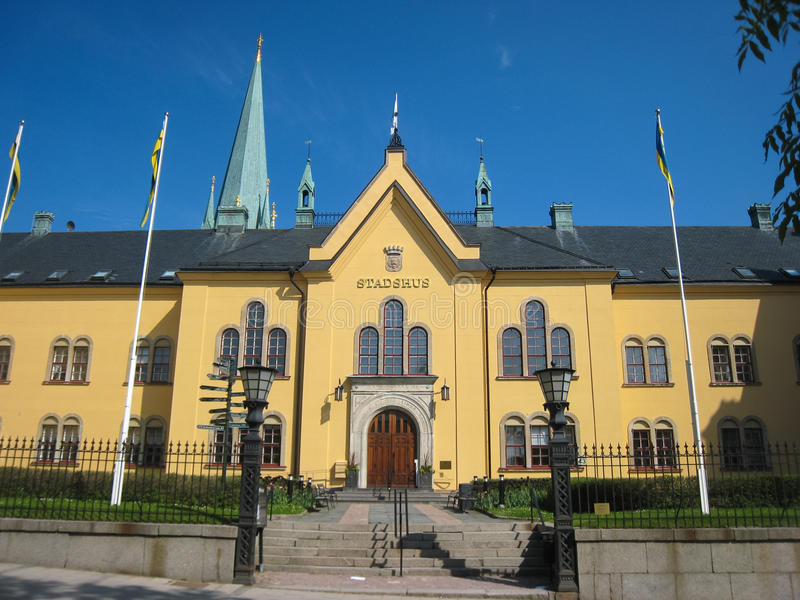 City hall. Linkoping. Sweden. The Town Hall. Linkoping . Sweden stock photo