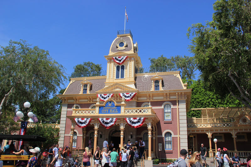 City Hall At Main Street USA Disneyland California Editorial - What city is disneyland in