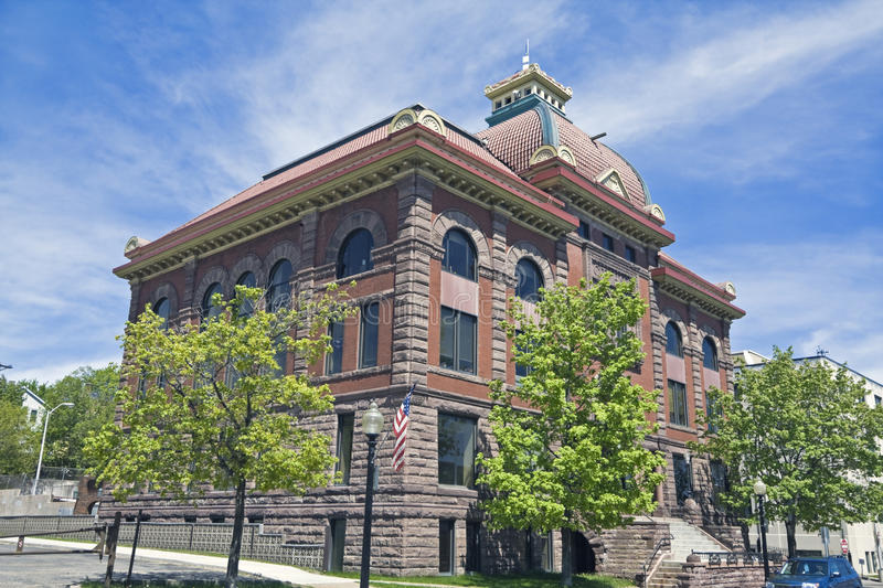 City Hall in Marquette stock photos