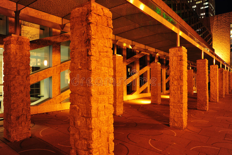 city hall night scene στοκ εικόνες με δικαίωμα ελεύθερης χρήσης