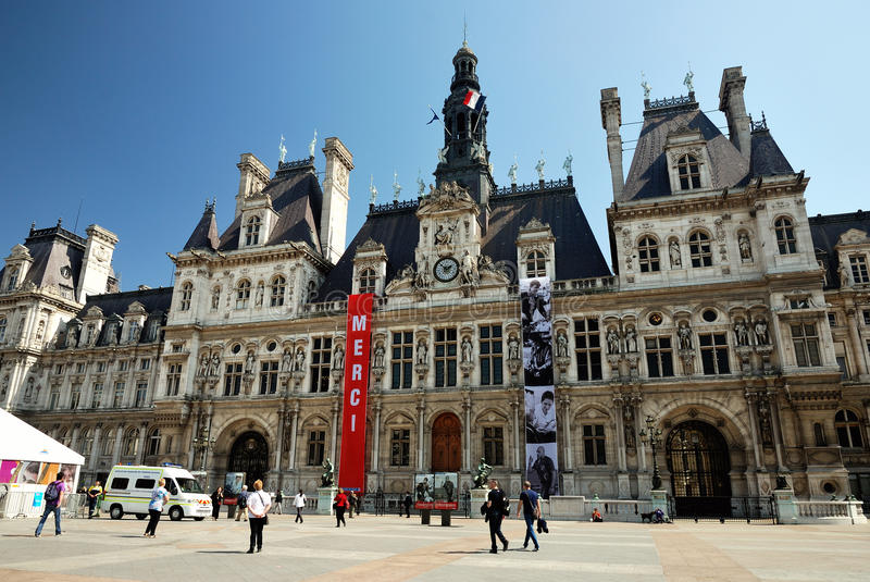 Download The city hall of Paris editorial stock image. Image of government - 27548704