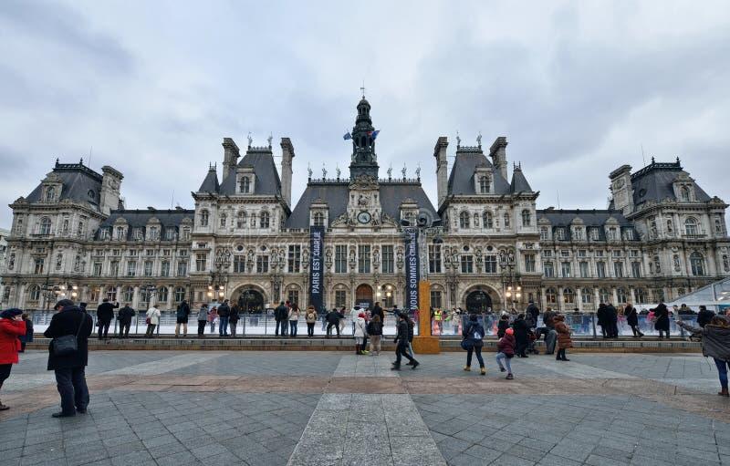 City Hall, Paris royalty free stock photo