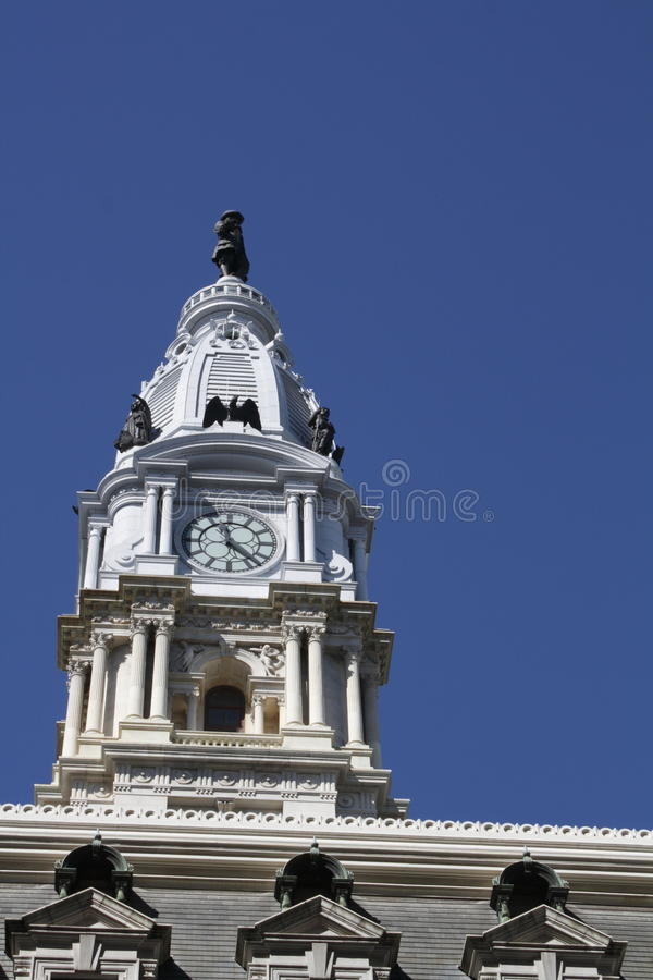 City Hall, Philadelphia, PA. Blue sky background stock images